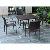 International Caravan Barcelona 5-Piece Patio Set in Black Antique 