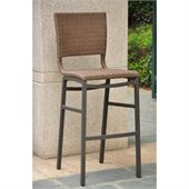 International Caravan Barcelona Wicker Bar Stools in Honey (Set of 2)