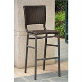 International Caravan Barcelona Bar Stools in Antique Brown(Set of 2) 