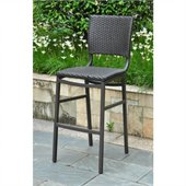 International Caravan Barcelona Bar Stools in Black Antique(Set of 2) 