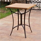 International Caravan Barcelona Aluminum 32 Wicker Table in Honey