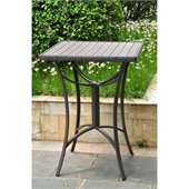 International Caravan Barcelona Aluminum 32 Wicker Table in Chocolate