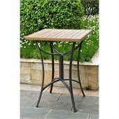 International Caravan Barcelona 32 Wicker  Patio Table in Antique Brown