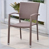 International Caravan Barcelona Patio Chair in Antique Brown(Set in 2)