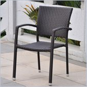 International Caravan Barcelona Patio Chairs in Chocolate (Set of 2)