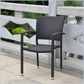 International Caravan Barcelona Patio Chair in Black Antique(Set of 2)