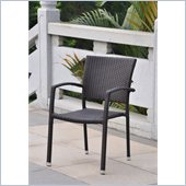 International Caravan Barcelona Patio Chairs in Chocolate (Set of 4)
