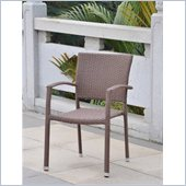 International Caravan Barcelona Patio Chair in Antique Brown(Set of 4)