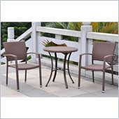 International Caravan Barcelona 3 PCS Bistro Set in Antique Brown