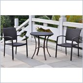 International Caravan Barcelona 3 PCS Bistro Set in Black Antique
