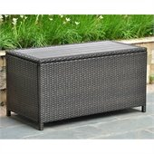 International Caravan Barcelona Table & Storage Trunk in Black Antique