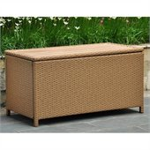 International Caravan Barcelona Coffee Table & Storage in Honey