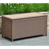 International Caravan Barcelona Coffee Table & Storage in Antique Brown