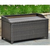 International Caravan Barcelona Faux Wood Top Trunk/Table in Black