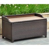 International Caravan Barcelona Faux Wood Top Trunk/Table in Chocolate