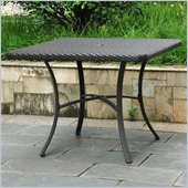 International Caravan Barcelona 39 Dining Table in Black Antique