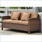 International Caravan Barcelona Sofa with Cushions in Antique Brown 