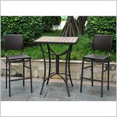 International Caravan Barcelona 5-Piece Bistro Set in Chocolate