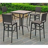 International Caravan Barcelona 5-Piece Bistro Set in Black Antique 