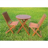 International Caravan Valdona Folding Chair in Premium Stain(Set of 2)