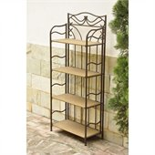 International CaravanValencia 4-Tier Wide Wicker Plant Shelf in Honey