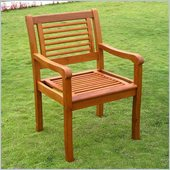 International Caravan Royal Tahiti Chair in Premium Stain (Set of 2)