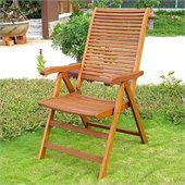 International Caravan Royal Tahiti 5-Position Folding Chair (Set of 2)