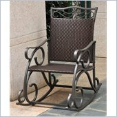 International Caravan Lisbon Wicker Rocking Chair in Chocolate 