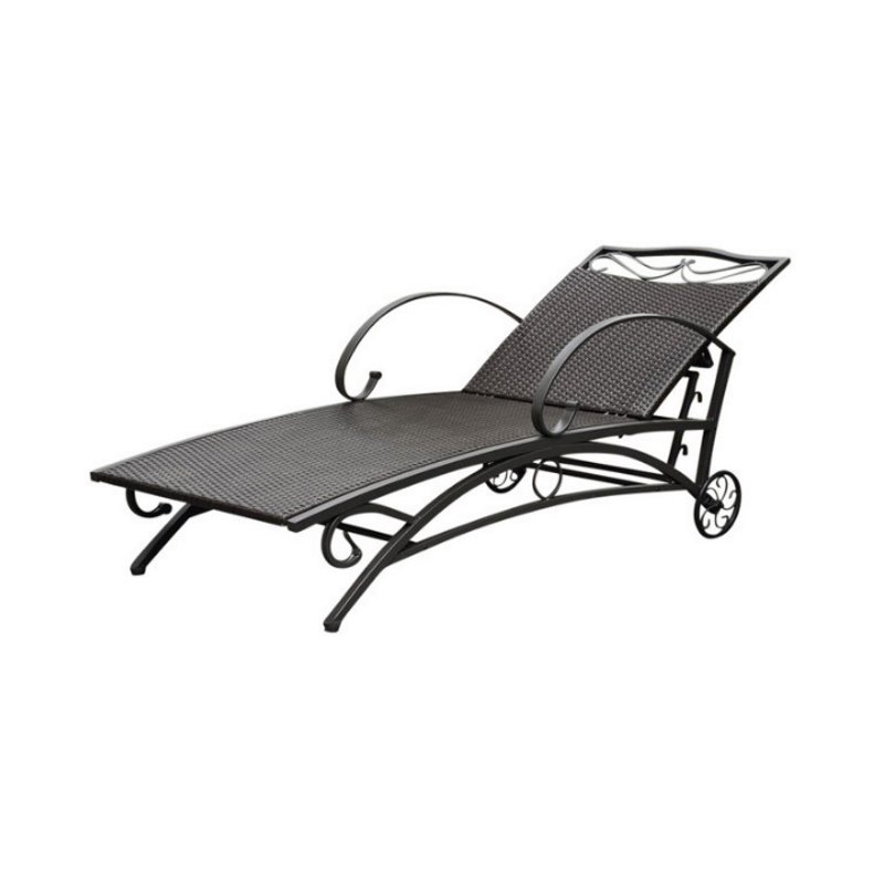 International caravan lisbon chaise lounge in chocolate for Best price chaise lounge