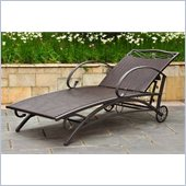 International Caravan Lisbon Multi Position Chaise Lounge in Chocolate 