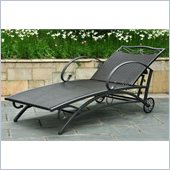 International Caravan Lisbon Multi Position Chaise in Black Antique 