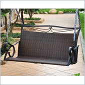 International Caravan Lisbon Loveseat Porch Swing in Chocolate 