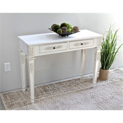 International Caravan Windsor Wall Table in Antique White
