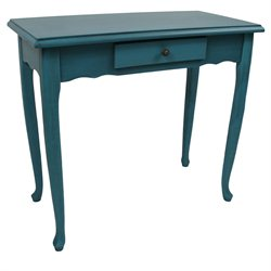 International Caravan Ashbury Console Table in Antique Teal