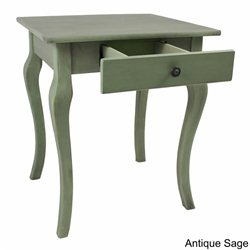 International Caravan Ashbury Square End Table in Antique Sage