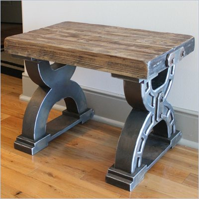 International Caravan Aledo Antique Double Horseshoe Indoor Stool