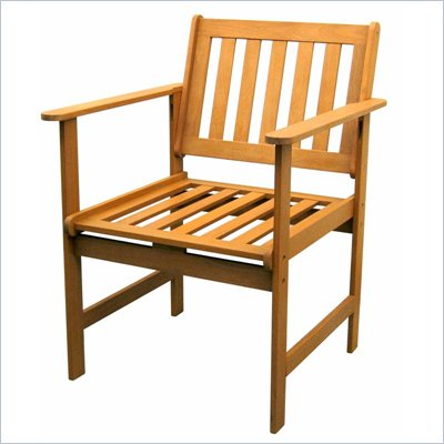 International Caravan Balau Wood Patio Arm Chair - Set of 2