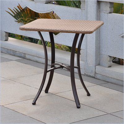 International Caravan Barcelona 28&quot; Bistro Table in Antique Brown 