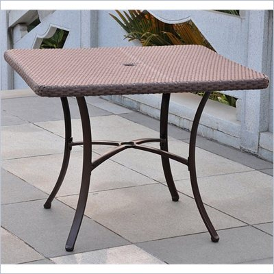 International Caravan Barcelona 39&quot; Dining Table in Antique Brown
