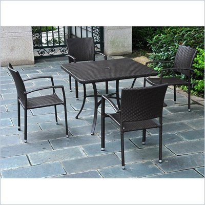 International Caravan Barcelona Patio Chair in Black Antique(Set of 4)