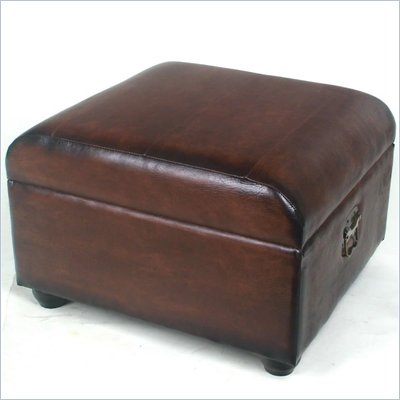 International Caravan Carmel Ottoman Trunk with Lid in Brown