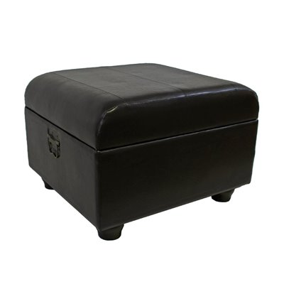 International Caravan Carmel Ottoman Trunk with Lid in Dark Chocolate