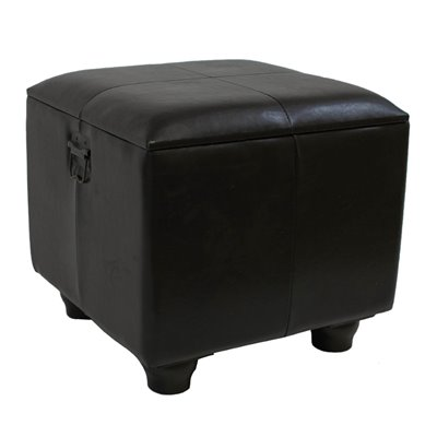 International Caravan Carmel Square Ottoman Trunk w/ Lid in Chocolate