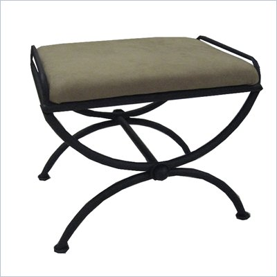 International Caravan Chapel Indoor Micro Suede Vanity Stool