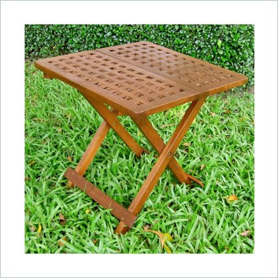 International Caravan Chatham Outdoor 20&quot; Checkerboard Patio Table