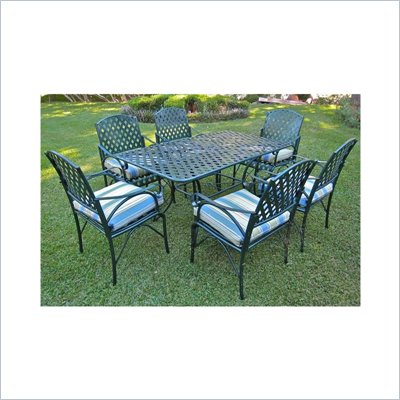 International Caravan Ferini 7 Piece Diamond Lattice Patio Dining Set