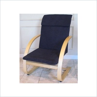 International Caravan Fresco Game Chair w/ MicroSuede Fabric in Black