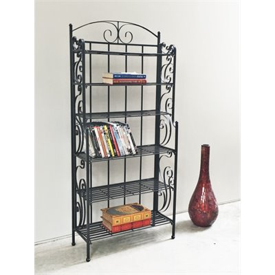 International Caravan 6-Shelf Large Iron CD/DVD Storage 