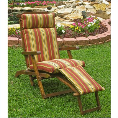 International Caravan Mana Outdoor Wooden Patio Lounger