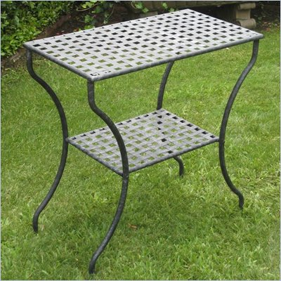 International Caravan Mandalay Rectangular 2-Tier Patio Table